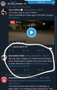 ANTIFA Claims Fires In Washington